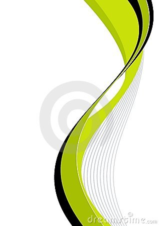 Green curved lines