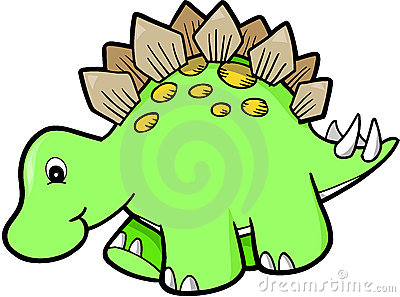 Green Cute Dinosaur