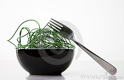 Green Cyber Noodles