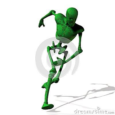 Green cyborg run