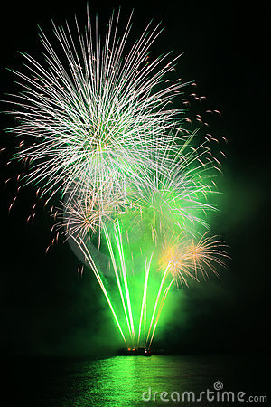 Free Green Dandelion Fireworks Stock Photos - 5162333