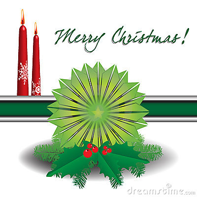 Green decoration for Christmas