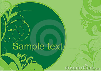 Green decorative design