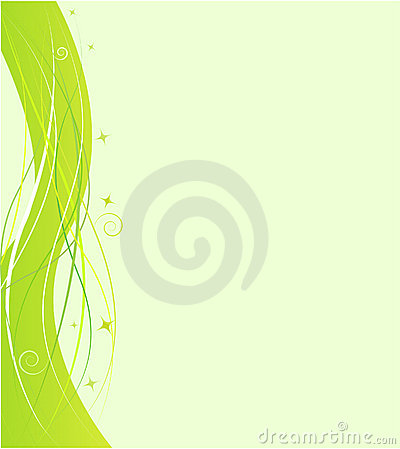 Green design template with swirl ornament
