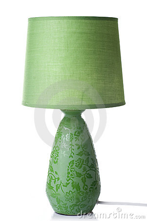 Free Green Desk Lamp Isolated Royalty Free Stock Photography - 14230037