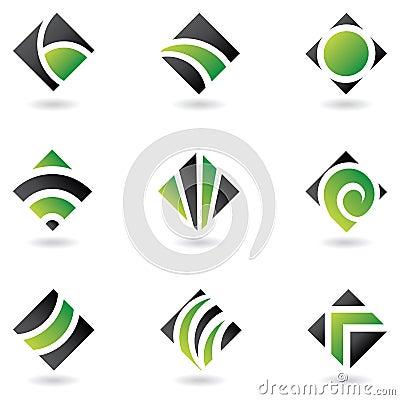 Free Green Diamond Logos Stock Photography - 5165352