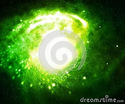 Green Digital Galaxy