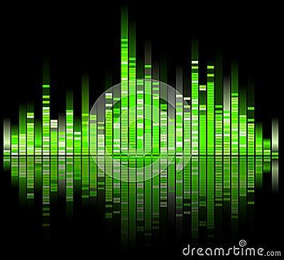 Green digital sound equalizer