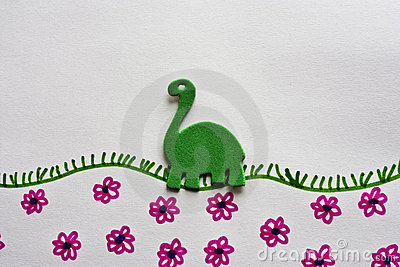 Green foam dinosaur