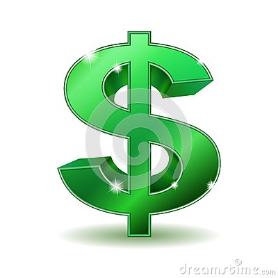 Free Green Dollar Sign Stock Images - 29908134