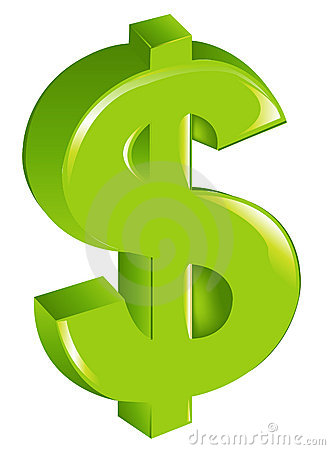 Green Dollar Sign. Vector