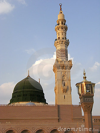 Free Green Dome Of Nabawi Mosque Stock Photo - 5561610