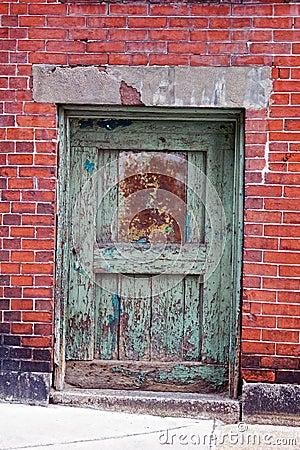 Green door red wall