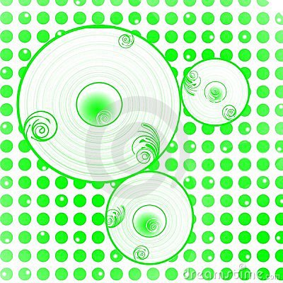 Green dots circles background