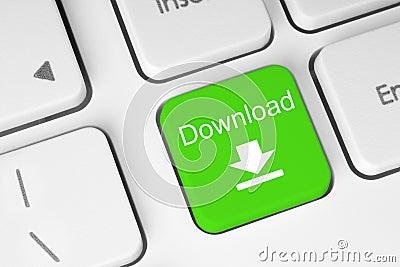 Green download keyboard button