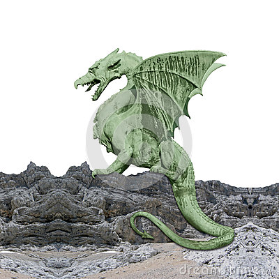 Green dragon - photomontage