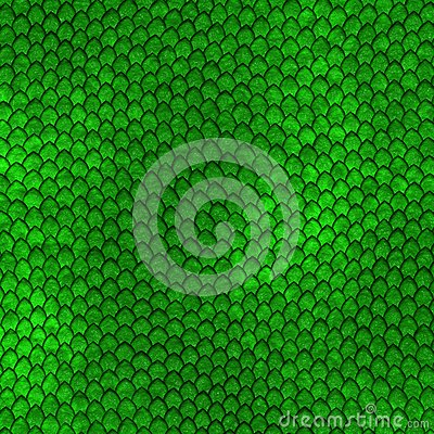Free Green Dragon Scales Pattern Royalty Free Stock Photography - 38203247
