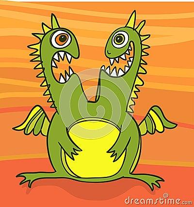 Green dragon twins