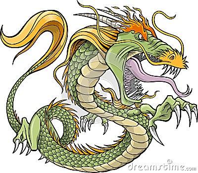 Green Dragon Vector