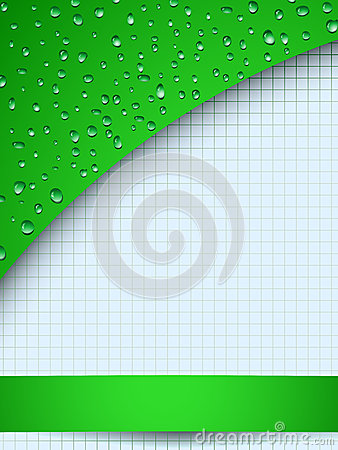 Green drops and copyspace