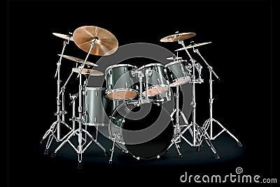 Green Drum kit