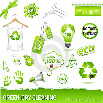 Free Green Dry Cleaning Set Royalty Free Stock Images - 16350599