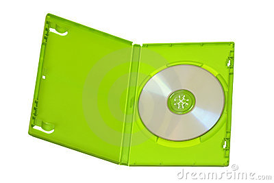 Green DVD-CD Case with Disc