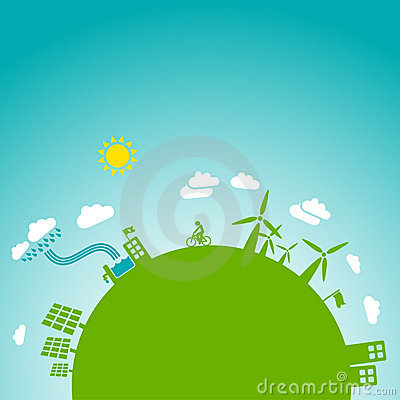 Green earth, blue sky