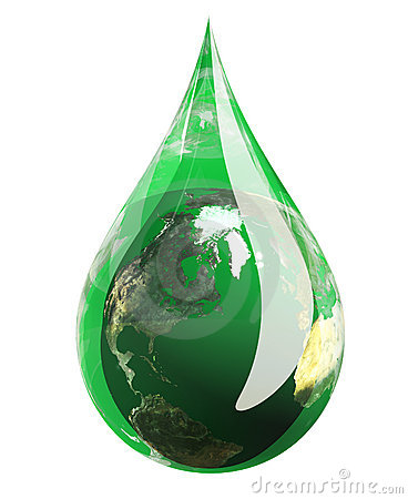 Green Earth Droplet