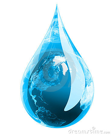 Free Green Earth Droplet Stock Photography - 8378792