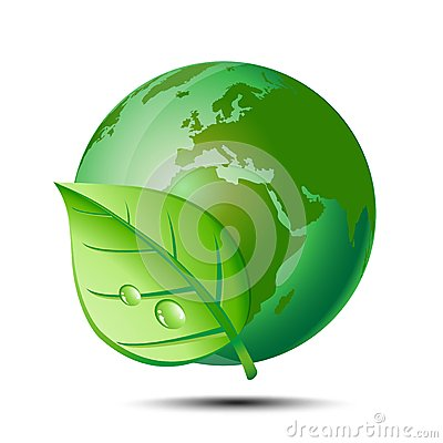 Green earth and leaf
