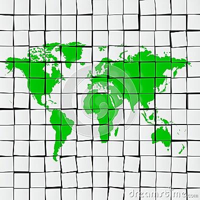 Earth map tiles
