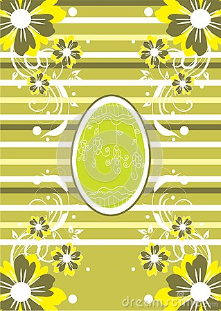 Green Easter background