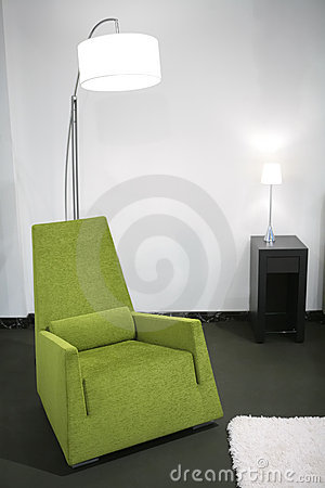 Green easy-chair