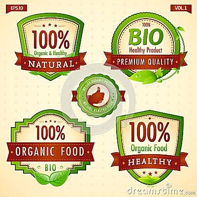 Green eco bio label collection vol. 1