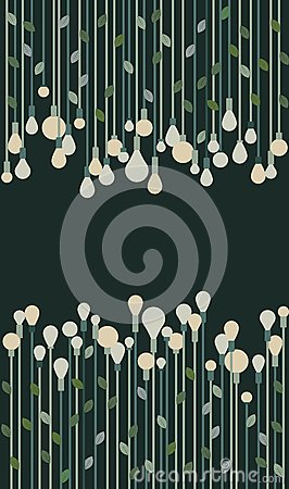 Green eco bulbs illustration