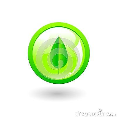 Green eco button