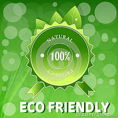 Green ECO FRIENDLY.