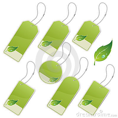 Free Green Eco Labels Stock Photos - 16592983