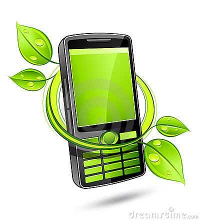 Green eco mobile telephone