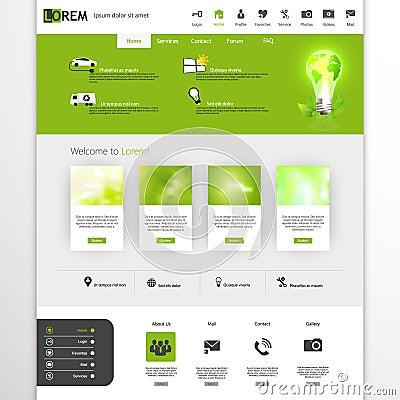 Green eco professional website