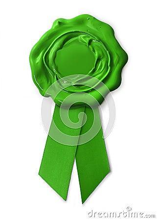 Green eco warranty seal