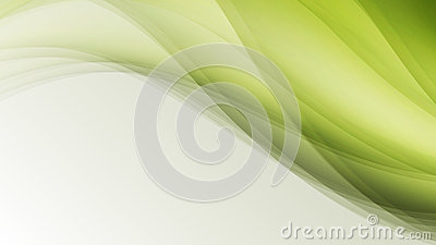 Green eco wave leaf creative lines abstract background Vector Illustration