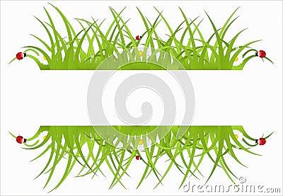 Green ecological banner