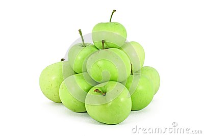 Green ecological grown apple