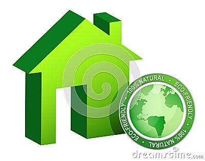 Green ecological house - modern housing