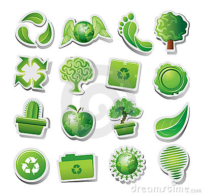 Free Green Ecological Icons Royalty Free Stock Photo - 21041705