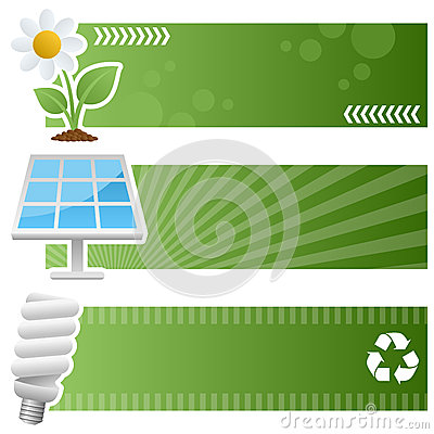 Green Ecology Horizontal Banners