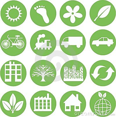 Free Green Ecology Icons Royalty Free Stock Photos - 17669008