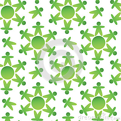 Green ecology pattern